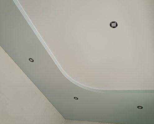 двухцветные Матовые натяжные потолки