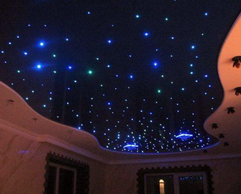 натяжной потолок звезды