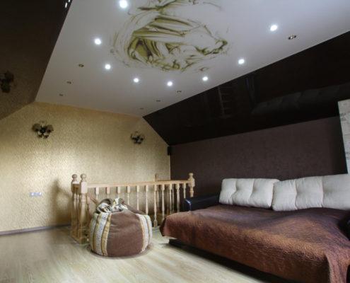 Натяжные потолки с фотопечатью греческий стиль