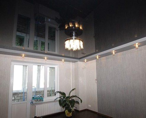 черный натяжной потолок цвет