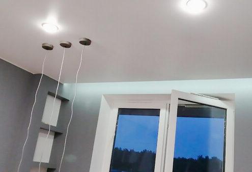 Натяжные потолки под ключ со светодиодами