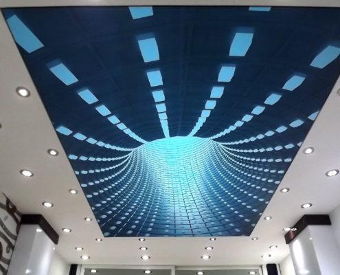 потолок с визуальными эффектами