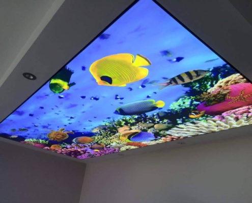 натяжной потолок с океаном