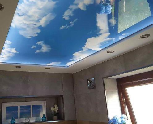 натяжной потолок с объемным эффектом