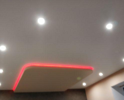 Натяжной потолок на кухне установка
