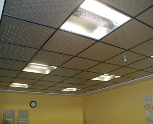 освещение в офисе подвесной потолок